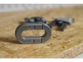 bloqchain - easy zero infill chain links diy bloqchain chain chain link chain lock chain parts chains half chain half chain link keychain