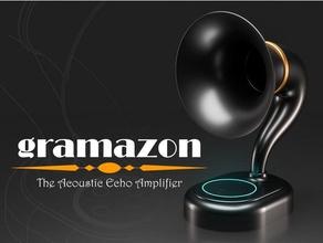 gramazon - acoustic echo amplifier audio amazon amazon alexa echo dot amazon echo dot amazon echo dot case echo echo dot echo dot acoustic echo dot base echo dot case gramophone horn radio horn speaker