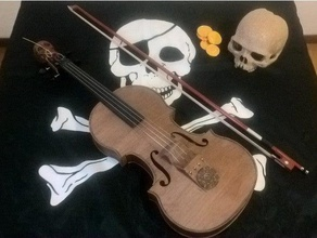 hovalin - pirate caribbean mod 3d printing hovalin pirate pirate caribean violin