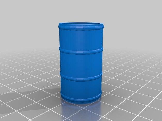 oil barrel token 3d print