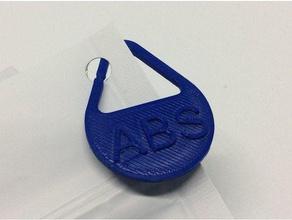 filament bag id tag 3d printer accessories abs filament tag filament id tag identification tag petg filament tag pla filament tag storage id tag tag