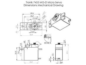 tronik 7455 mg-d micro digital servo hobby 7455 mg-d arm cross-arm full arm half arm pro-tronik servo servo arm solidworks solidworks 2015