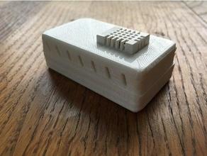 slim case esp8266 lolin nodemcu plus dht 22 airflow diy dht-22 esp8266 lolin nodemcu slim case