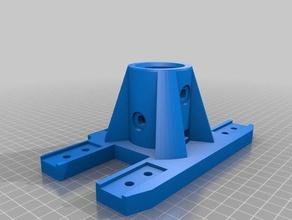 inmoov stand holder - 335 mm hole robotics inmoov inmoov leg stand inmoov pole stand inmoov support stand inmoov modifications inmoov stomach