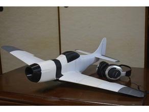 Impreso en 3d mustang p51 900mm la versión 2 optimizado características adicionales r c vehículos Impresora 3d La impresión en 3d avión ala volante mustang p51d
