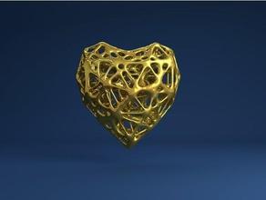 heart voronoi style sculptures voronoi 3d voronoi heart