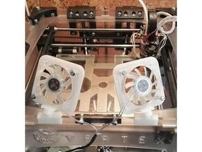 fan support vertex 3d printer accessories 3dprintable 3d printer 3d printer parts 3d vertex 40mm fan 40 mm fan 40 mm fan support cooling fan dual extruder extruder extruder fan fan fan support support vertex vertexevo vertex 3d vertex 8400 vertex k8400