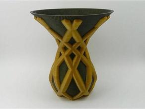 spannerhands dual vase decor duel duel extruders duel extrusion spiral vase spiral vase printing twisted vase vase