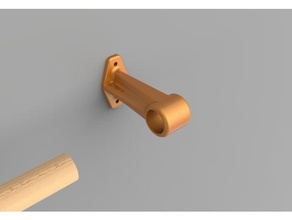 curtain rod holder support tringle rideaux household 3d printed curtain 3d printed rod holder curtain rod curtain rod holder rod holder tringle tringle rideaux