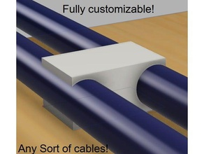 customizable cable clip diy any cable cable clip cable holder cable management cable organizer cable tidy cable tie clean desk customizable customizer desk organizer desk tidy hardware network organization organize organizer tidy usb tidy