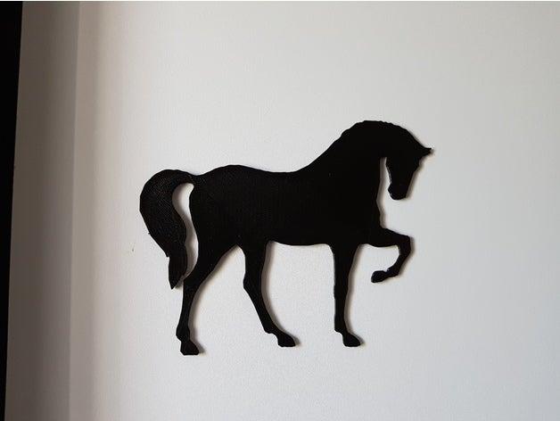 whole horse shadow animal