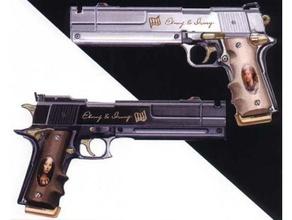 devil may cry's ebony & ivory twin handguns props cosplay dante devil may cry dmc ebony & ivory prop gun