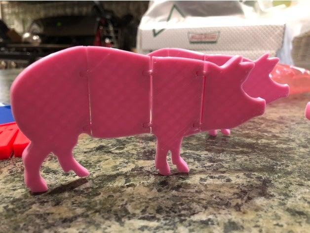 articulated pig animals a