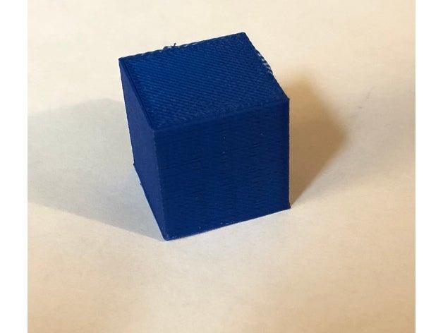 test cube 3d printing tes