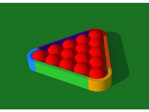 snooker 15 balls triangle