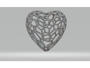 hearts sculptures 3d voronoi heart hearts low-poly low poly voronoi