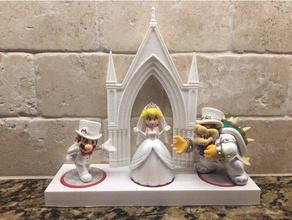 amiibo wedding set- mario odyssey toy & game accessories amiibo amiibo base amiibo display amiibo stand mario odyssey super mario super mario odyssey