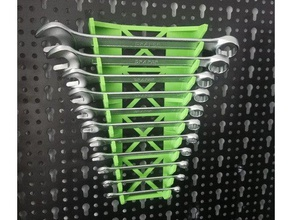 spanner wrench pegboard holder & wall mounted version new expansion bracket added imperial sae sets tool holders & boxes pegboard pegboard mount spanner spanner holder spanner mount spanner pegboard wrench wrench holder wrench mount wrench pegboard wrench pegboard mount