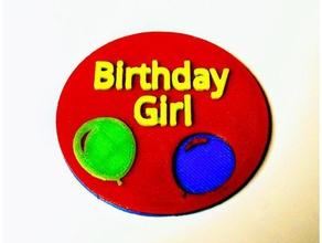 multicolored happy birthday button magnetic back accessories balloon birthday birthday boy birthday button birthday girl button cameron drcameron happy birthday