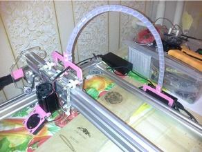 eleksmaker a3 laser engraver cable holders diy cable cable holder eleksmaker eleksmaker a3 eleks maker laser holder