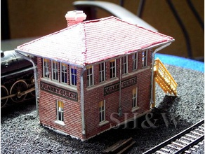 quarry gulch yard tower interlocking tower buildings & structures ho model railroad ho model trains model railroad scale model