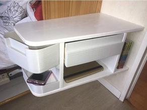 table nuit suspendue bois et plastique bedside table suspended wood plastic household bedside table
