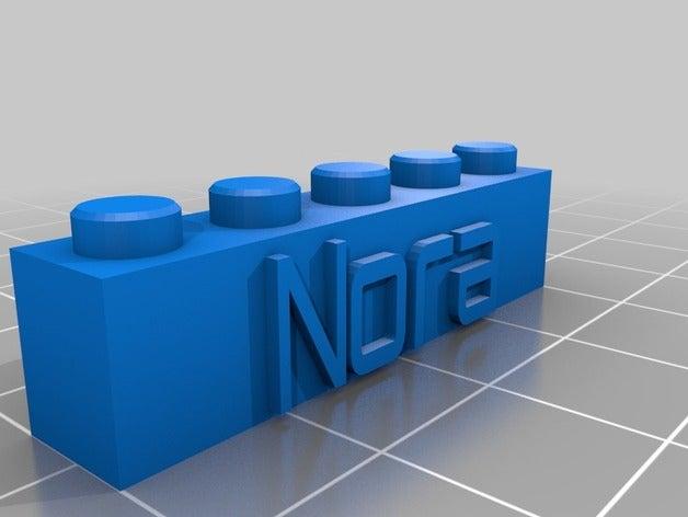 block keychain nora 5x1 c