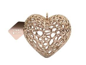keychain - voronoi heart keychains heart keychain