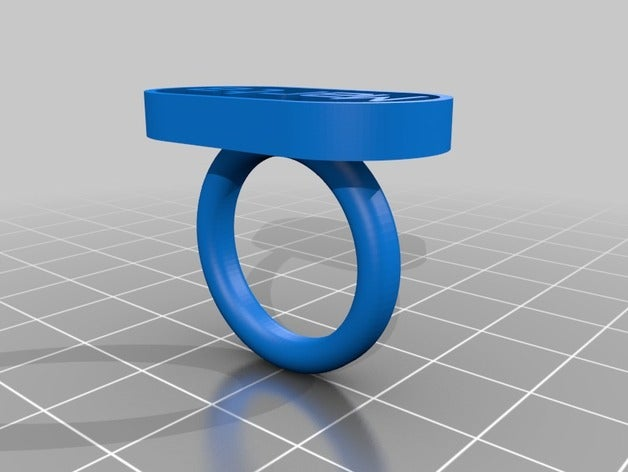 my customized text ring r