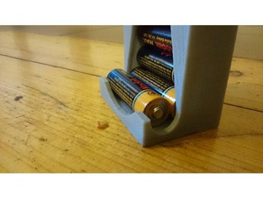 aa battery holder improved household aa battery aa battery holder cutout improved improved design remix