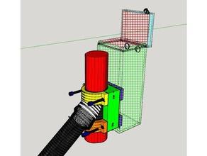 xiaomi m365-clamp-Bogen-Roller frame Montage-add-Kasten-Beutel - plateau et collier serrage rajout pour boite ou sac sport & im freien box box Halter m365 xiaomi