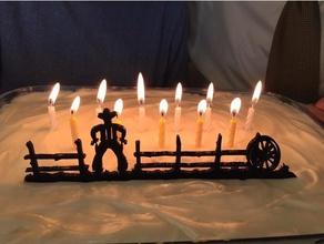 cowboy cake topper kitchen & dining birthday cake boy birthday boy's birthday cake cake decorating cake decoration cake topper cowboy fence man birthday man's birthday mens birthday quick decoration table top decor table top decoration tabletop decoration western cake topper western decor western decoration