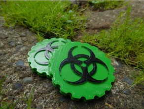 bio hazard maker coin signs & logos bio-hazard biohazard biohazard icon biohazard logo bio hazard radioactive radioactive sign zombie
