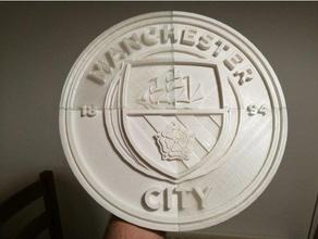 manchester city fc logo 298x298x15mm +split files signs & logos football manchester city manchester city fc man city soccer