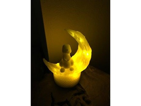moon bunny nightlight decor bunny children childrens childrens toy cute easter bunny lamp led leds led holder led lamp led light led mount led strip light lunar moon moonlight moonlight bunny night nightlight nightlight bunny night light night vision moon