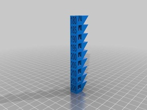 pla temperature tower 3d printing tests creality ender 2 ender-2 ender 2 g-code temperatura temperature torre tower