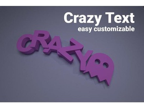 crazy text keychains parametric 3d keychains 3d text character configurable custom customizable customized decoration easy print font fonts fridge fridge magnet gift icon icons jewelry key keychain keyring letter letters magnet name nametag name tag openscad quote ring sculpture sign symbol text wearable word