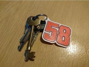 58 marco simoncelli keyring keychains 58 key keychain keyring marco moto motogp multi multicopter ring rossi sic