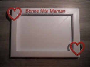 cadre photo bonne f te maman decor bonne cadeau cadre cadre photo fete f te des mamans f te des m res gift heart maman m re mother mothers day photo picture picture frame