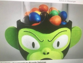 mojo jojo candy dispenser - 2 sizes containers candy dispenser candy holders m&m m&m candy mojo jojo monkey nuts peanut peanuts peanut dispenser