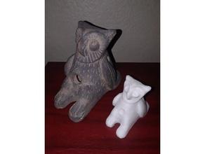 owl sculpture scans & replicas 3d scan mexican owl owl sculpture owl statue photogrammetry scan sculpture