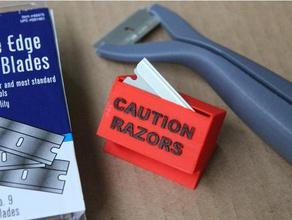 used razor storage disposal box 3d printer accessories razor razor blade razor blade holder razor box razor holder safety razor box