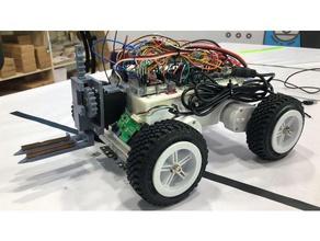 forklift robotics arduino barcode fork forklift forklift hook rfid robotics