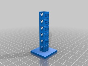 torre temperatura pla plus 3d printing tests customized