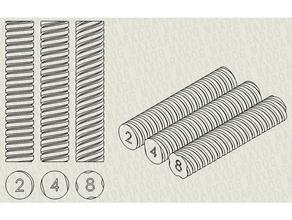 lead screw example differenciate lead 2 4 8mm 3d printer parts acme acme leadscrew lead leadscrew lead screw screw