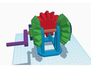due direzioni di rotazione in senso orario a cricchetto meccanismo di trasmissione giocattoli meccanici in senso orario ingranaggio meccanismo cricchetto giocattolo