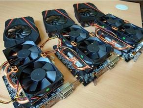 gigabyte itx custom fans 2x80mm - repair kit electronics 80mm fan geforce gigabyte gpu gtx gtx 1070 itx mining rig