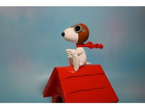 pilot snoopy - red baron figure toys & games charlie brown moai peopoly pilot snoopy polysher snoopy