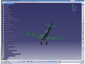supermarine spitfire catia model 2d art spitfire supermarine spitfire