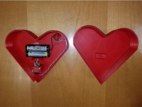 animatronic beating heart box interactive art heart hearts heart box heart valentines day interactive interactive art motorized